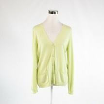 Light green cotton blend TALBOTS long sleeve cardigan sweater M - $24.99