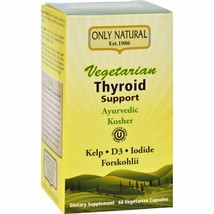 Only Natural Thyroid Support - Vegetarian - 60 Vegetarian Capsules - $28.97