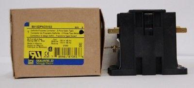 Square D 8910DPA33V02 Definite Purpose Contactor B Series 30 Amps 3 Pole