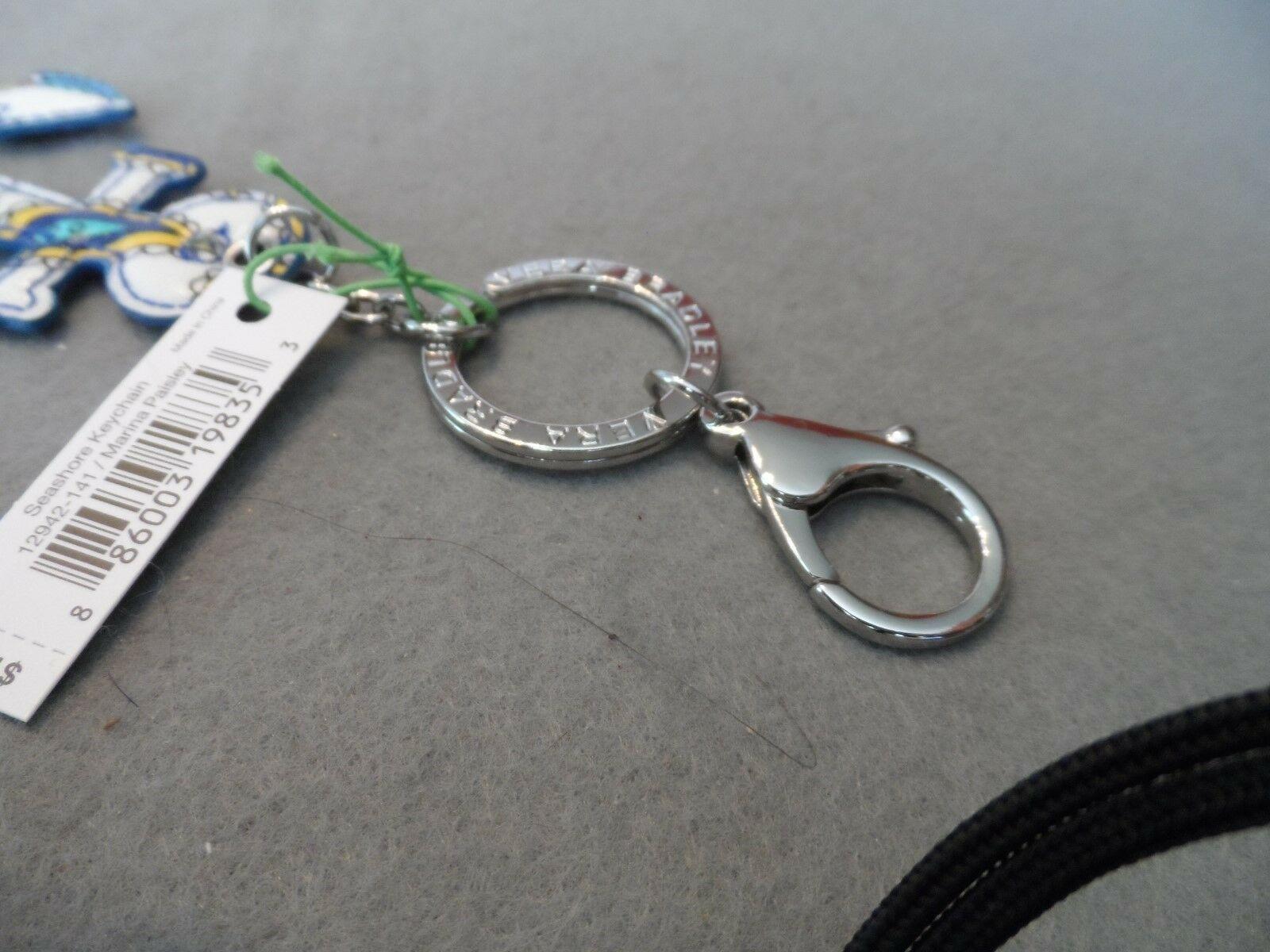 Vera Bradley Marina Paisley Seashore Anchor keychain NWT