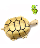 Tortoise Wooden Toy For Kids Tortoise Wooden Crafts Retro Home Table Dec... - $5.99
