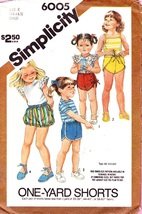 Simplicity 6005 Childs Set Of  Wrapped,Bloomer ... - $4.95