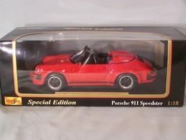 1989 Porsche 911 Speedster 1:18 scale diecast Special Edition Maisto - $45.08