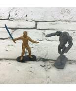 Star Wars Cake Topper Plastic Figures Lot Of 2 Luke Skywalker With Battl... - $9.89