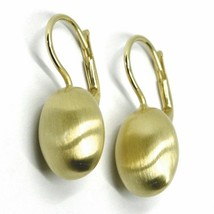 Aquaforte Earrings in Silver 925 with Oval 14 MM Gold Made in Italy image 1