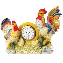 Fitz and Floyd Ricamo Collection, Rooster Clock - $51.40