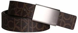 Calvin Klein Men's Reversible Premium CK Logo 35mm Harness Belt Brown 7511296