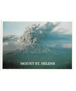 WA Mount St Helens Erupting Active Volcano Ted Leonard Photo Vntg 4X6 Postcard - £3.87 GBP