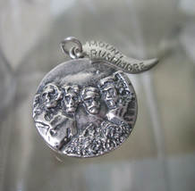 Sterling Silver Bracelet Charm  MOUNT RUSHMORE  National Monument Medall... - $54.45