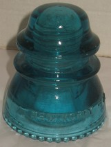 Vintage Dark Aqua Blue Hemingray 42 Glass Insulator Paperweight USA - $18.81