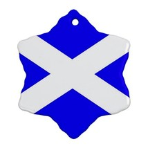 Scotland Scottish Flag Procelain Ornaments (Snowflake) Christmas - $6.95