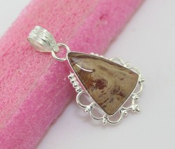 7 gr Jasper Silver Overlay Handmade Pendant Jewelry -P-129-37_141 - $3.59