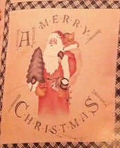 Daisy Kingdom Country Cutouts No Sew Applique Toy Santa Christmas Appliq... - $8.99