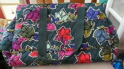 Vera Bradley TRiple compartment travel bag pattern in Falling Flowers