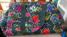 Vera Bradley TRiple compartment travel bag pattern in Falling Flowers image 1