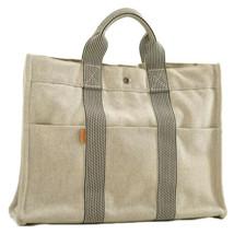 HERMES Fourre Tout MM Tote Bag White Cotton Auth 9733 - $210.00