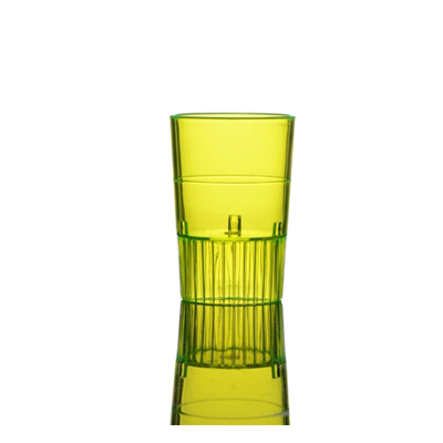 Yellow 1 oz Plastic Neon Shooters/Case of 500