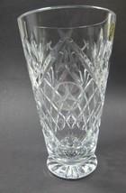 Signed Waterford Hand Cut glass vase Mercedes-Benz logo Irish Crystal - $86.90