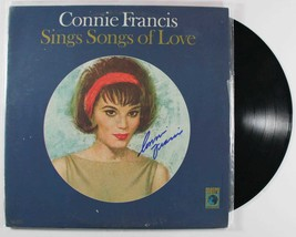 """Connie Francis Signed Autographed """"Songs of Love"""" Record Album - $29.99"""