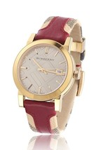 【BURBERRY】The City BU9017 Unisex Watch - canvas and leather strap 38mm  - $298.00