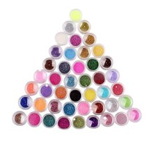 45 Colors Eyeshadow Makeup Nail Art Pigment Glitter Dust Powder Set image 2