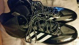 Adidas Men's Crazyquick Football Black White Molded Cleats Size 17 NEW - $15.58