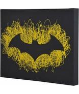 Batman Logo Paint Splatter Canvas 16 by 20 - $18.59