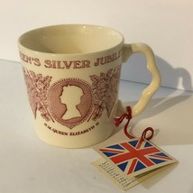 NWT Vintage Mug HM Queen Elizabeth II Silver Jubilee Mason's Ironstone P... - $27.72