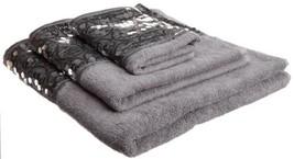 Popular Bath Sinatra 3-Piece Towel Set, Silver - $40.69