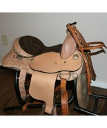 13 Western Brown Leather Youth Pony Barrel Horse Saddle Barely used ! Ex... - $195.99