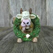 Vintage Cow Bull Christmas Ornament Roman Wreath Farm Country Rustic Cer... - $46.99
