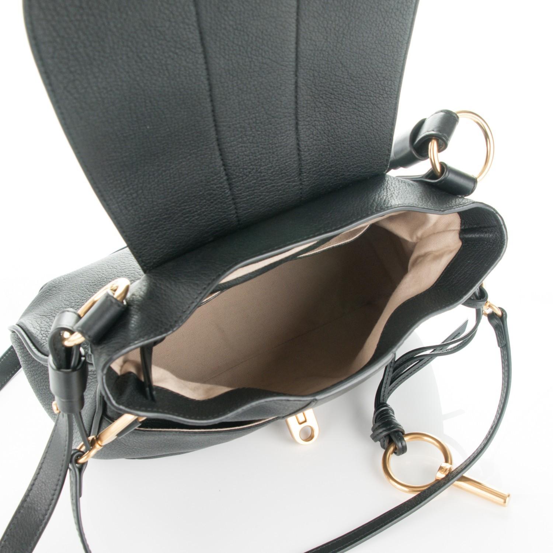 Chloe Lexa Black Lambskin Leather Shouler Bag Retail $1700