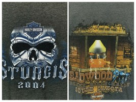Sturgis 04' Harley Davidson Deadwood Black Hills SD Motorcycle Rally 2XL... - $24.70