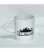 Fortnite Battlegrounds Heart Handle Battle Logo Coffee Mug Cup 10 oz. - $9.90