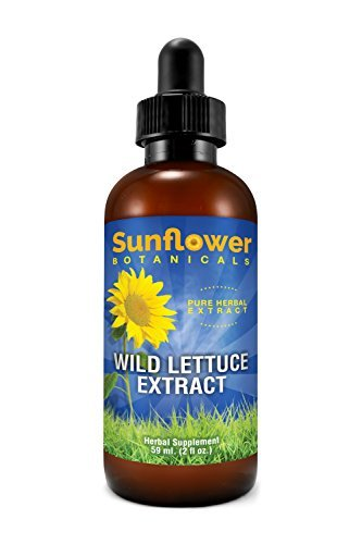 Sunflower Botanicals Wild Lettuce Extract Lactuca Virosa, 2 oz. Glass Dropper-To