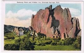 Colorado Postcard Colorado Springs Gateway Rock & Hidden Inn - $2.84