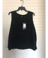 Who What Wear Womens Black  Cotton Tank Top XL Extra Large NWT - $19.34