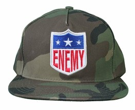 Another Enemy Calcio League Efl Verde Mimetico Snapback Baseball Cappello NW image 1