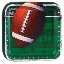 All Pro Football Dessert Snack Plates 8 Per Package Party Supplies New - $3.91