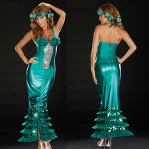 Halloween Mermaid Green Fancy Dress Cosplay Costume - $36.02