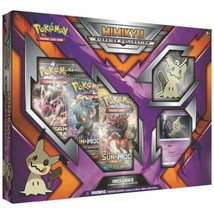 Pokemon TCG Mimikyu Sidekick Collection Box 3 Booster Packs + Keychain S... - $18.99