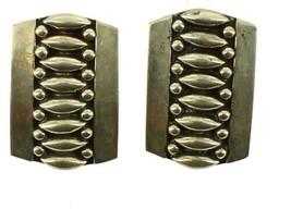Vintage Sterling Mexico Jfc Platara Mid Century Modern Screw Back Earrin... - $50.39