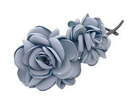 Banana Clip Hair Ornaments Twisted Folder Clip Vertical Hairpin ,Grey Blue