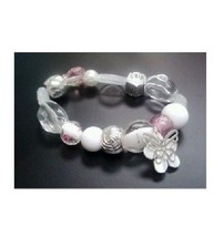 BEADED CHIC CHARM BRACELET BY AVON  - ROMANCE (NEW) - $6.95