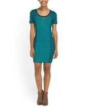 Romeo & Juliet Couture Geometric Print Short Sleeve Sweater Mini Dress N... - $31.99