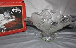 Crystal Clear Studios Moravia Hand Finished Crystal Oval Bowl With Flute... - $54.44