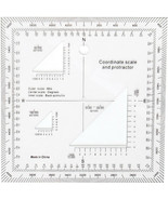 """Coordinate Scale and Protractor Emergency Military Field Locator 5"""" - $11.99"""