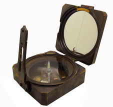 RARE SQUARE-SHAPED KELVIN & HUGHES LENSATIC SURVEYOR'S COMPASS ANTIQUATE... - $79.29