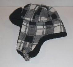 Levi's Men's Trapper Hat Black White Plaid th - $12.99