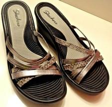 Skechers Women's Rumblers Wave Animal Print Lassie Slide Wedge Sandal SZ... - $17.09